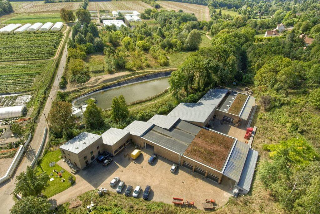 Vue d'ensemble des cultures du Lycée Agricole de Chambourcy